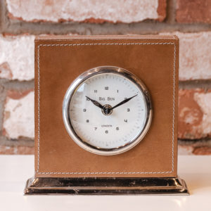 Tan leather clock