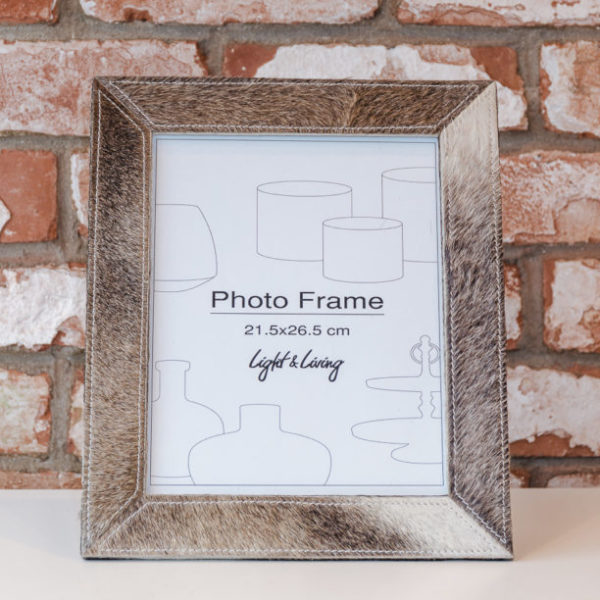 Animal skin picture frame
