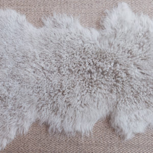 Grey sheep skin