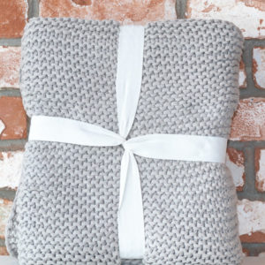 Grey organic cotton throw