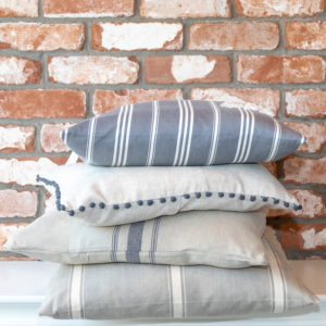 Natural stripe cushion