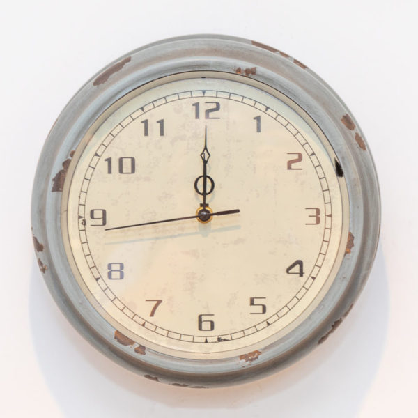Grey distressed clock