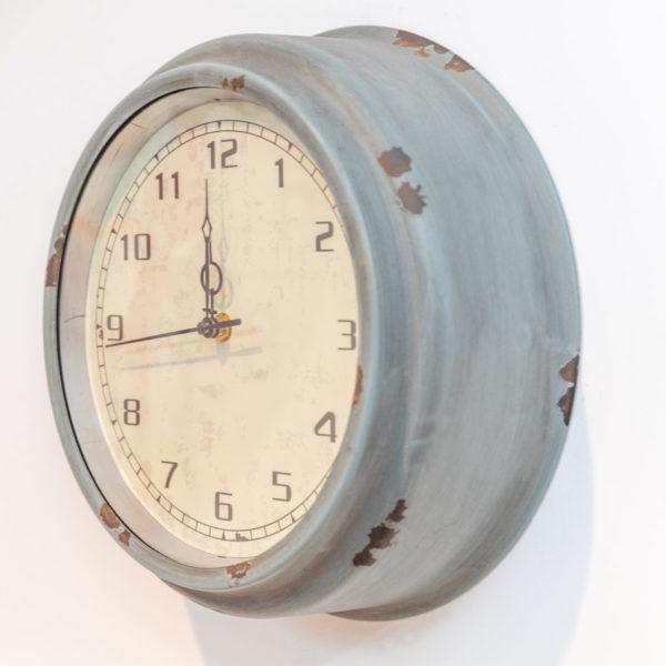Grey distressed clock