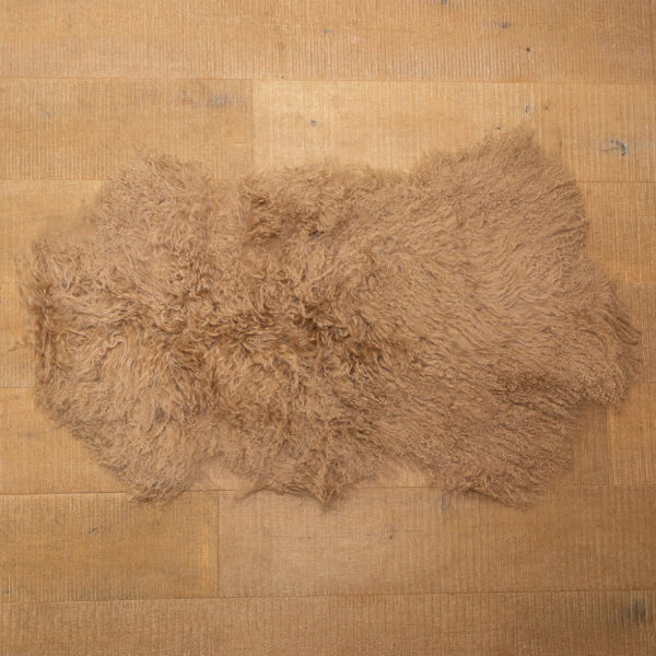 Mocha sheep skin rug